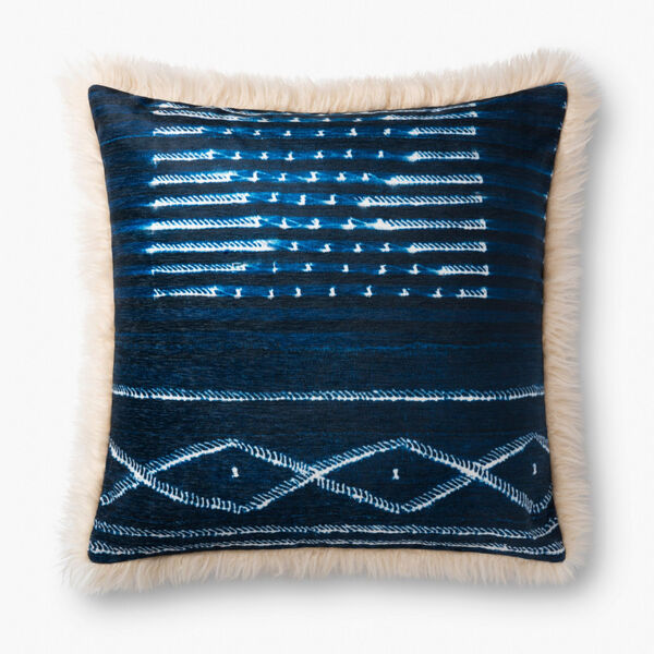 Ivory Multicolor Acrylic and Polyester 22 In. x 22 In. Throw Pillow Cover, image 1