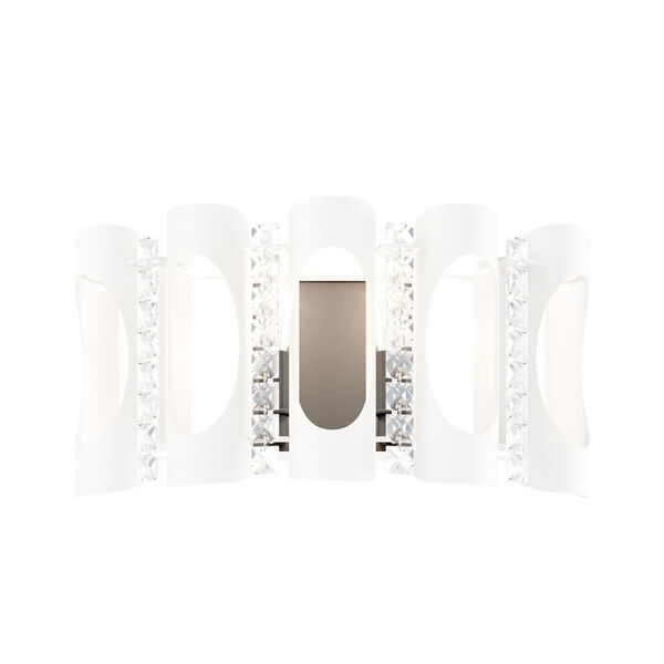 Twilight White Two-Light Wall Sconce with Clear Heritage Crystal, image 1