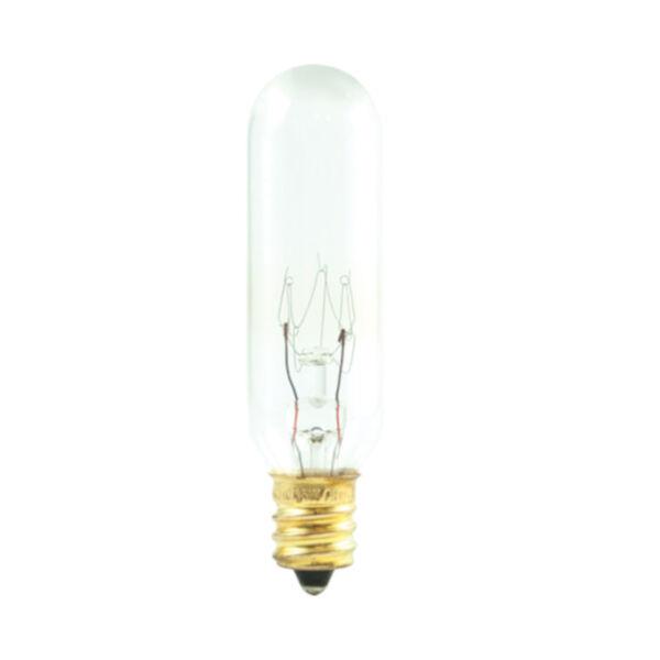 Clear Incandescent T6 Candelabra Base Warm White 180 Lumens Light Bulb, image 1