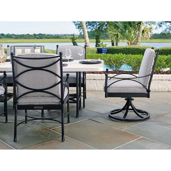 Pavlova Graphite and Gray Swivel Rocker Dining Chair, image 3