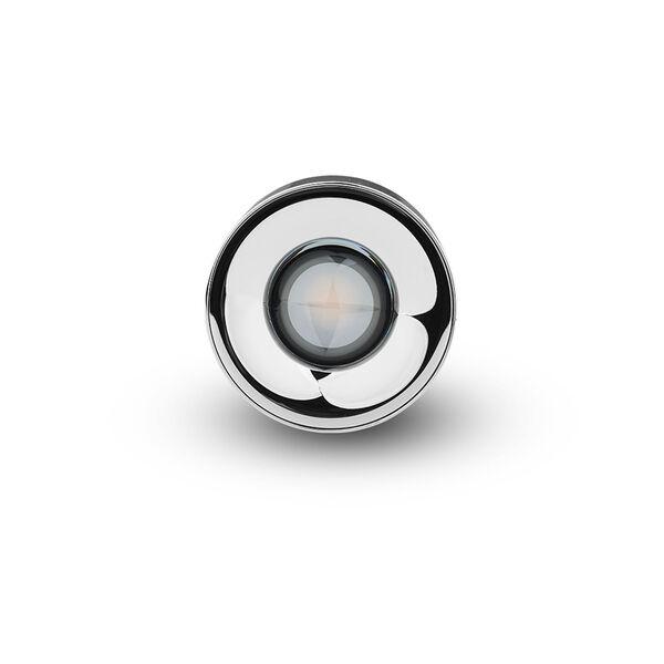 Node Polished Chrome 8W Round LED Flush Mounted Downlight, image 4