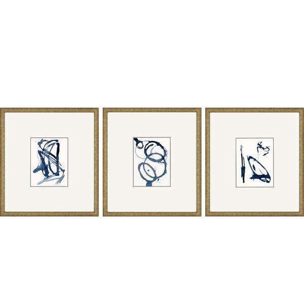 Mayhem II Blue Framed Art, Set of Three, image 2