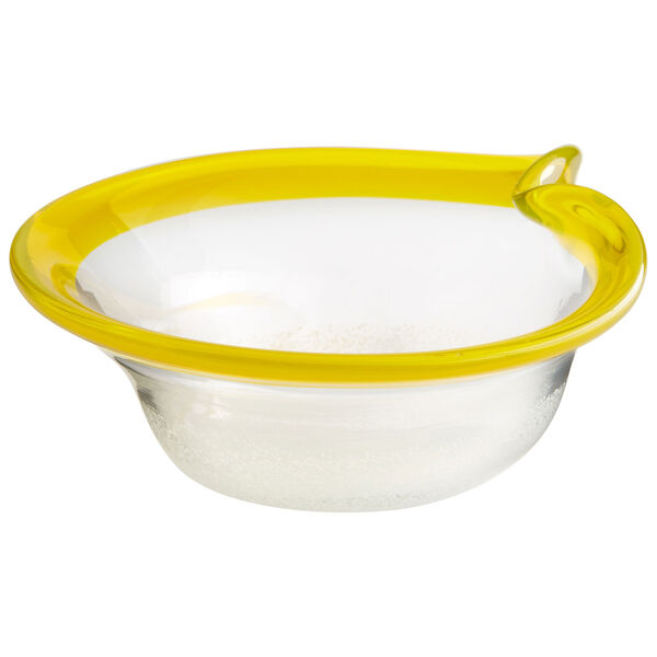 Saturna Yellow and Clear Small Bowl, image 1