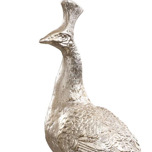 Overseer Silver and Black Overseer Peacock Sculpture, image 6