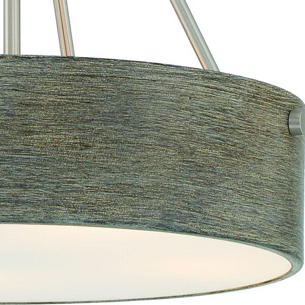 Erba Brushed Nickel Three-Light Pendant, image 2