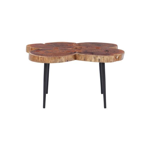 Aurelio Brown and Black Live Edge Small Coffee Table, image 5