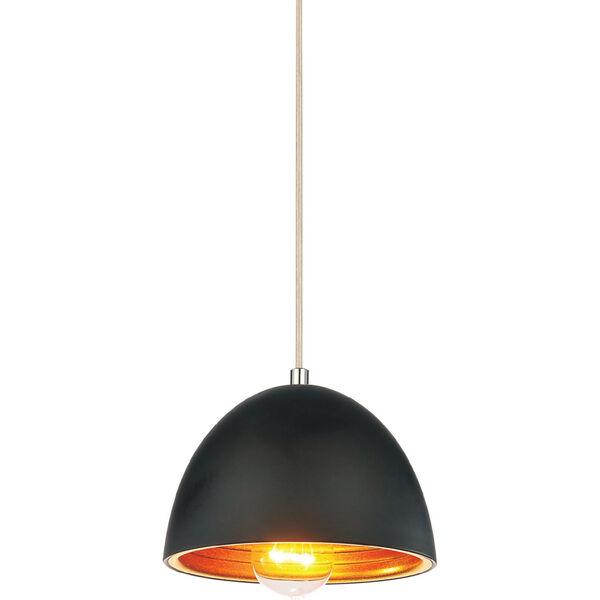 Modest Black One-Light Mini Pendant, image 1