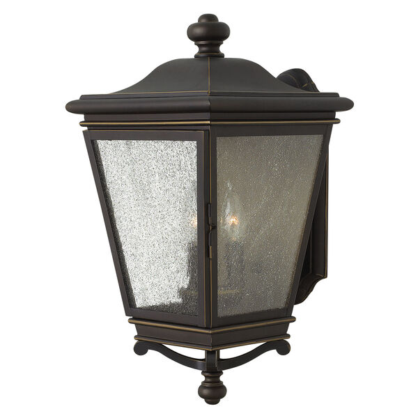 Lincoln Oil Rubbed Bronze 19-Inch Three-Light Outdoor Wall Sconce, image 1