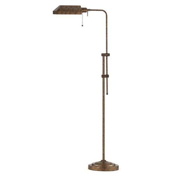 Pharmacy Rust Floor Lamp w/Adjustable Pole, image 1