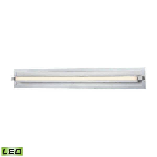 Kiara Frosted Polished Nickel and Satin Aluminum LED Vanity Light, image 1