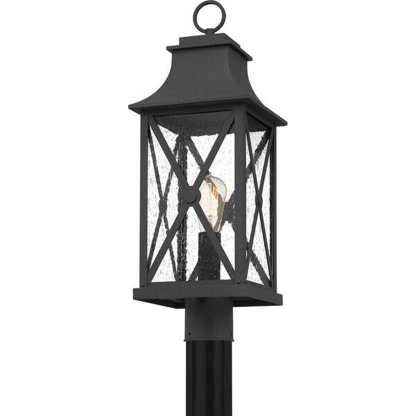 Ellerbee Mottled Black One-Light Outdoor Post Mount, image 4