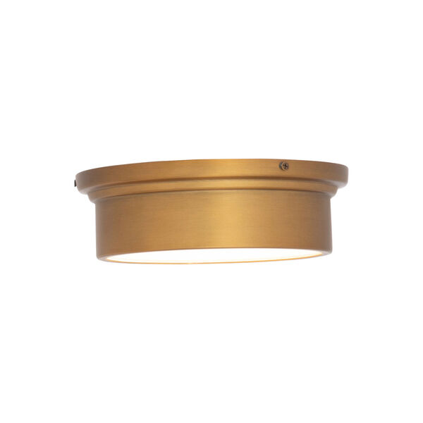 York Aged Brass 8-Inch LED Flush Mount, image 3