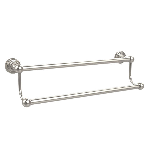 Waverly Place Collection 18 Inch Double Towel Bar, Polished Nickel, image 1