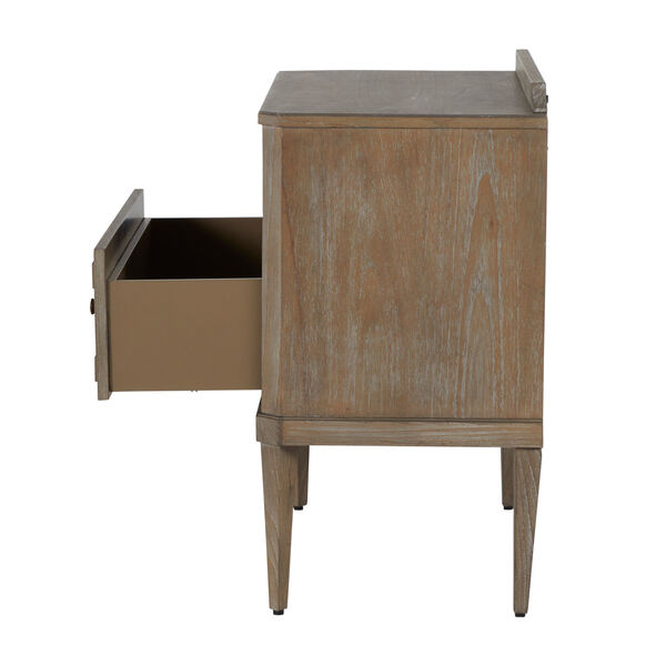 Glenwood Cerused Natural and Antique Bronze Nightstand, image 6