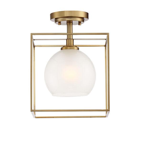 Cowen Brushed Gold One-Light Semi-Flush, image 4