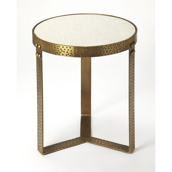 Butler Loft Marble and Metal Elton End Table, image 1