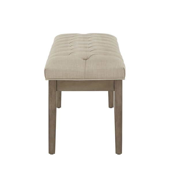 Amy Beige Tufted Reclaimed Uphlstered Bench, image 3