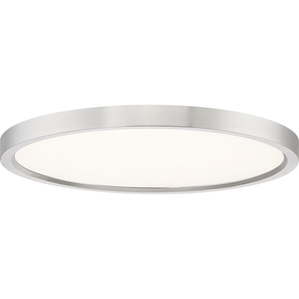 Outskirt Brushed Nickel 15-Inch LED Flush Mount, image 1