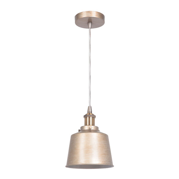 Gold Twilight and Patina Aged Brass 7-Inch One-Light Mini Pendant, image 1