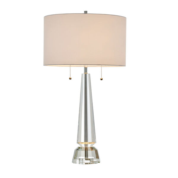 Eloise Crystal White Two-Light Table Lamp, image 1