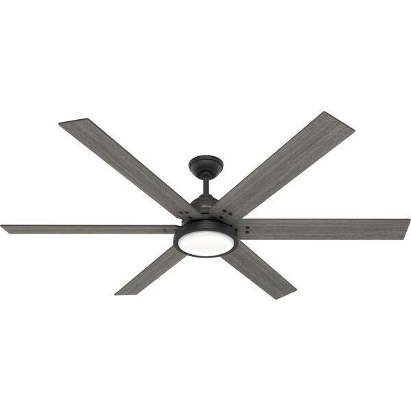 Warrant Matte Black 70-Inch LED Ceiling Fan, image 1
