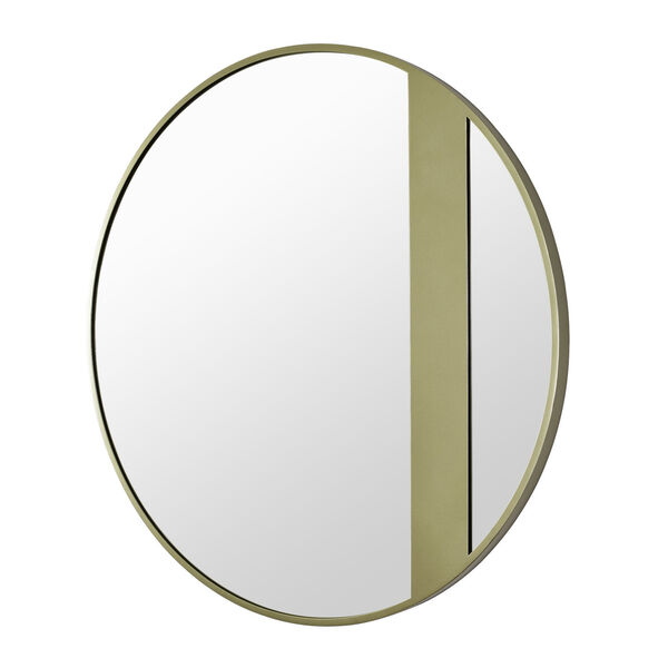 Cadet Gold Round Accent Wall Mirror, image 2