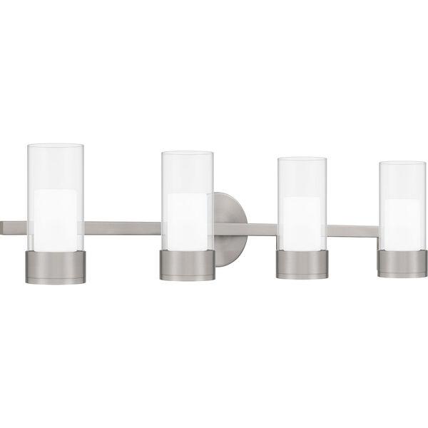 Logan Brushed Nickel Four-Light LED Bath Vanity, image 3