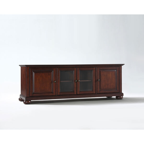 Alexandria 60-Inch Low Profile TV Stand in Vintage Mahogany Finish, image 1
