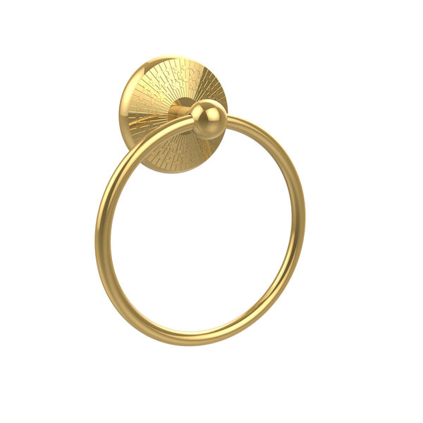 Monte Carlo Polished Brass Towel Ring, image 1