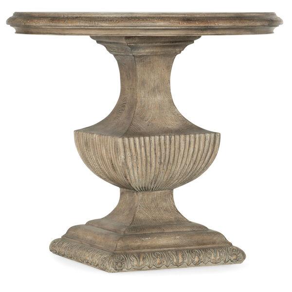 Castella Brown Urn Pedestal End Table, image 1