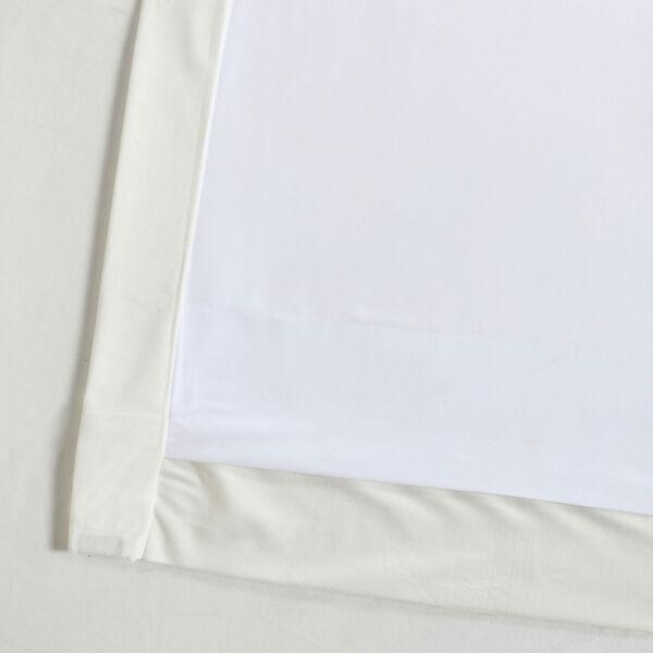 White 108 x 50 In. Plush Velvet Curtain Single Panel, image 6