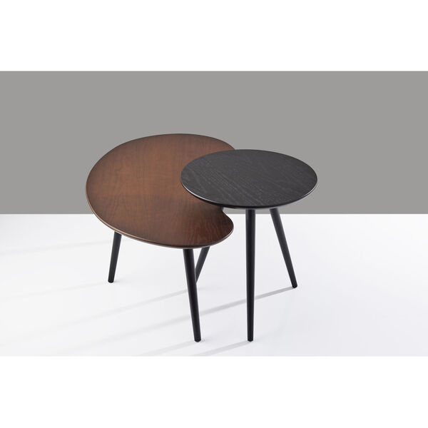 Gilmour Black and Walnut Nesting Table, image 6
