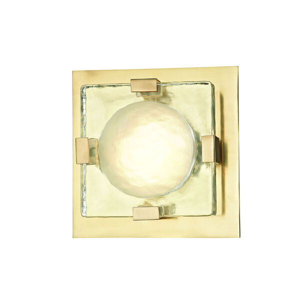 Bourne Aged Brass Eight-Inch LED Flush Mount, image 3