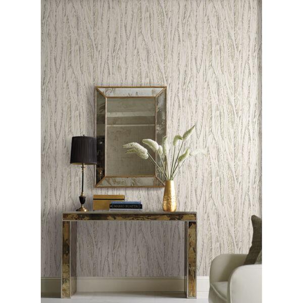 Antonina Vella Elegant Earth Cream Beige Native Leaves Bohemian Wallpaper, image 4