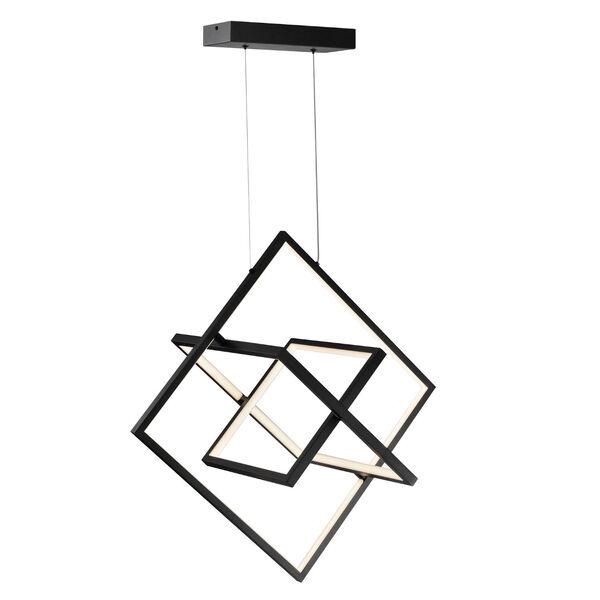 Graymar Black 11-Inch Three-Light LED Pendant, image 1