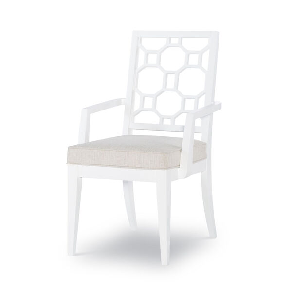 Chelsea by Rachael Ray White with Gold Accents Arm Chair, Set of Two, image 1