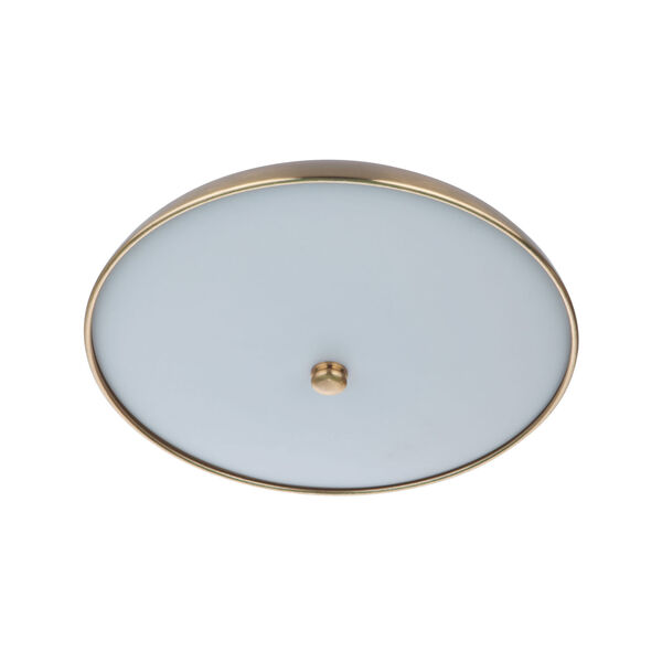 Soul Flat Black and Satin Brass 11-Inch LED Flushmount, image 2