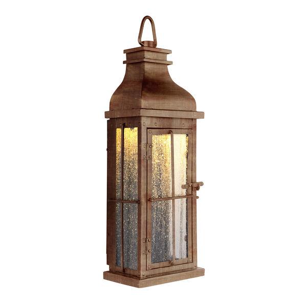 Vincent Weathered Copper LED ADA Outdoor Pocket Lantern, image 1