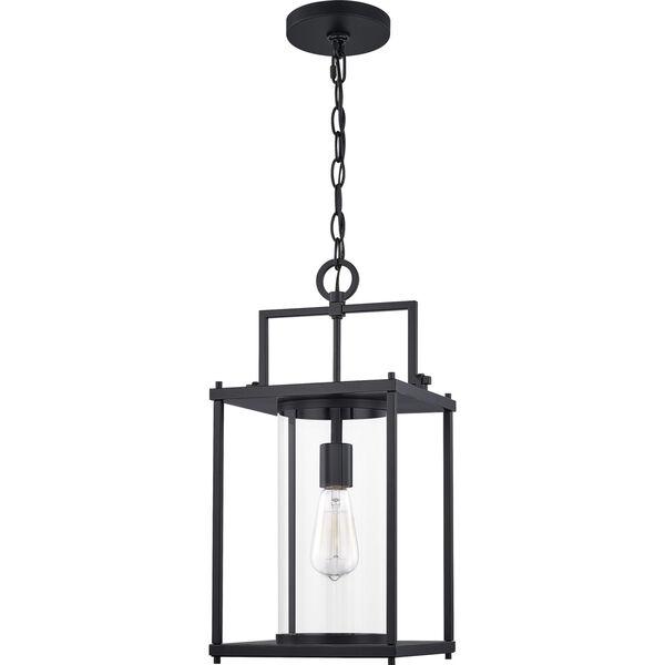 Garrett Matte Black 9-Inch One-Light Outdoor Hanging Lantern with Clear Glass, image 6