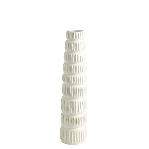 Antique White 20-Inch Totem Vase, image 5