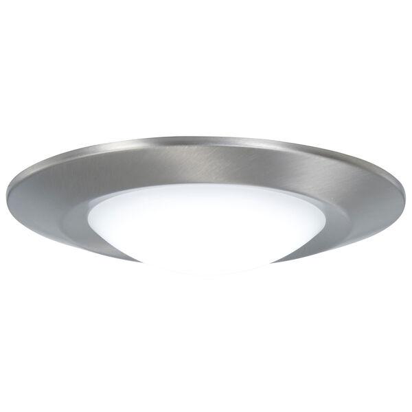 Brushed Nickel LED Outdoor Flush Mount, image 1