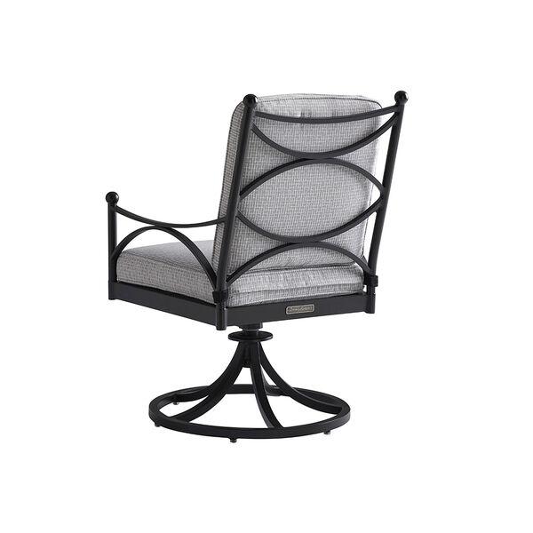 Pavlova Graphite and Gray Swivel Rocker Dining Chair, image 2