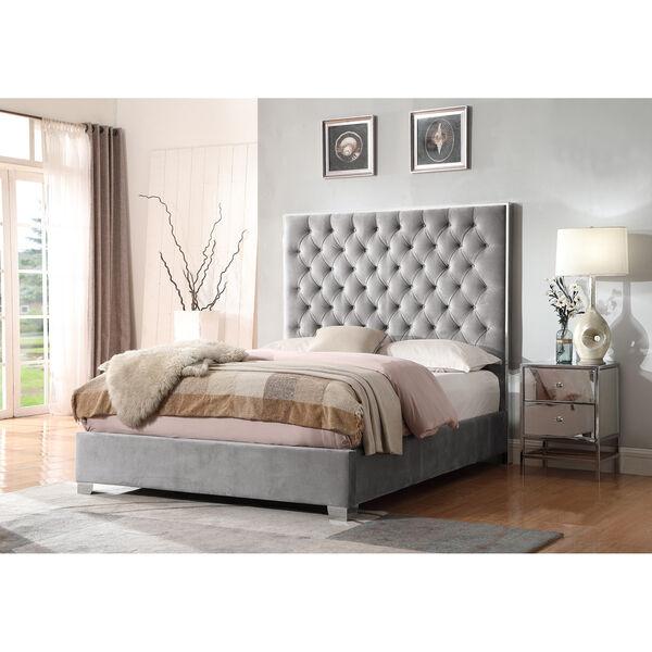 Vivian Cal. King Silver Gray Cal King Upholstered Bed, image 3