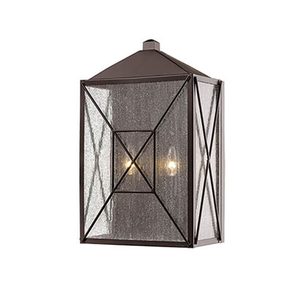 Jackson Bronze 12-Inch Two-Light Outdoor Wall Sconce, image 1