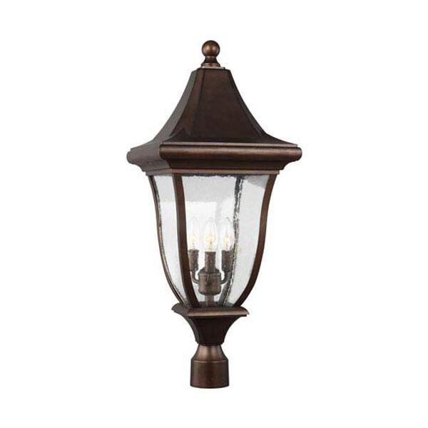 Hereford Bronze Three-Light Outdoor Post Lantern, image 1
