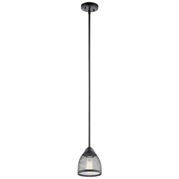 Voclain Black One-Light Mini Pendant, image 1