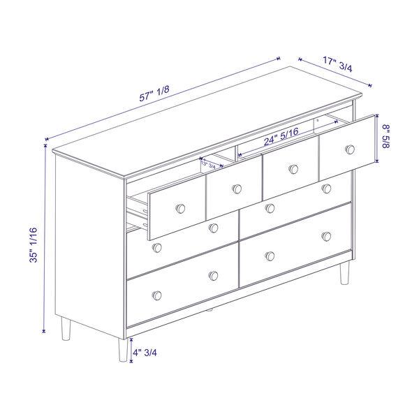 Walnut Six Drawer Dresser, image 5