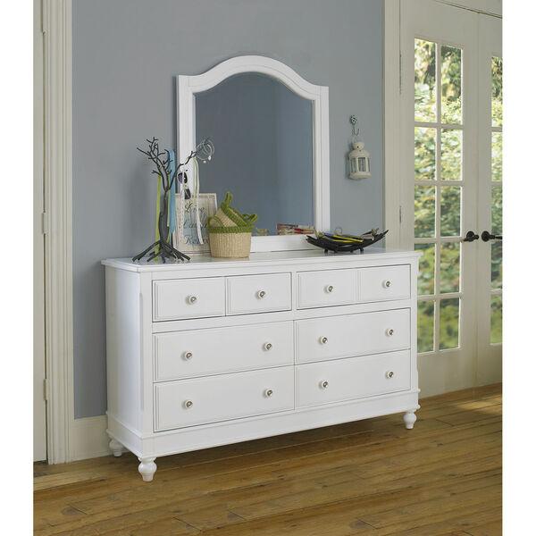 Lake House White 8 Drawer Dresser with Mirror, image 1