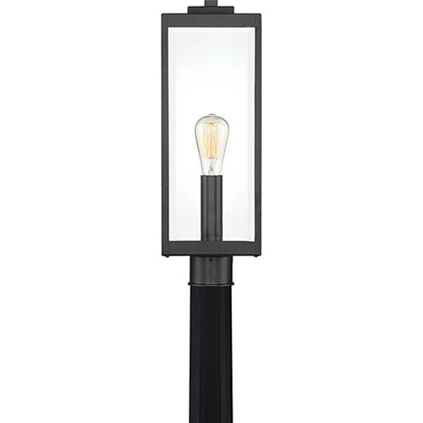 Pax Black One Light Outdoor Post Mount, Mid Century Modern Outdoor Light Post