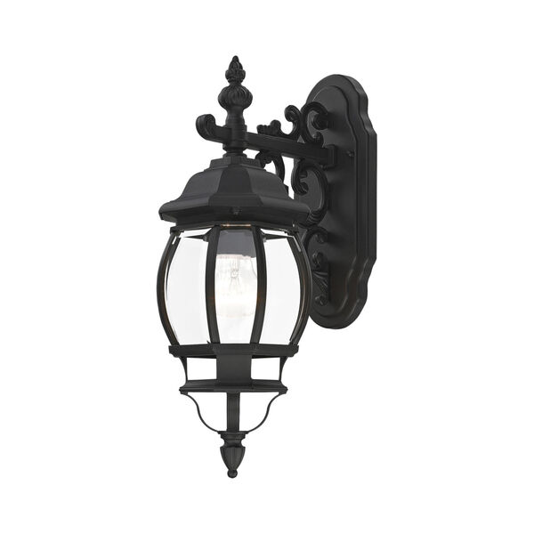 Frontenac Textured Black One-Light Outdoor Wall Sconce, image 1
